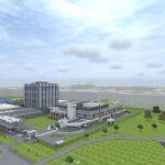 Эскиз проекта нового корпуса НИИ Джанелидзе